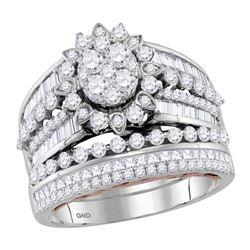 1.99 CTW Diamond Bridal Wedding Engagement Ring 14KT Two-tone Gold - REF-184Y5X