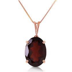 Genuine 6 ctw Garnet Necklace Jewelry 14KT Rose Gold - REF-37H6X