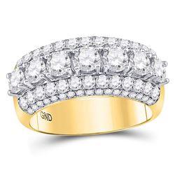 2.96 CTW Diamond Ring 14KT Yellow Gold - REF-525K5X