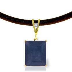 Genuine 7.01 ctw Sapphire & Diamond Necklace Jewelry 14KT Yellow Gold - REF-80Y6F