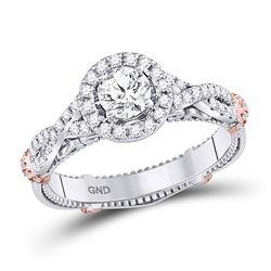 0.97 CTW Diamond Ring 14KT 2Tone Gold - REF-276W3M