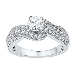 0.52 CTW Diamond Bridal Wedding Engagement Ring 10KT Yellow Gold - REF-179H9M