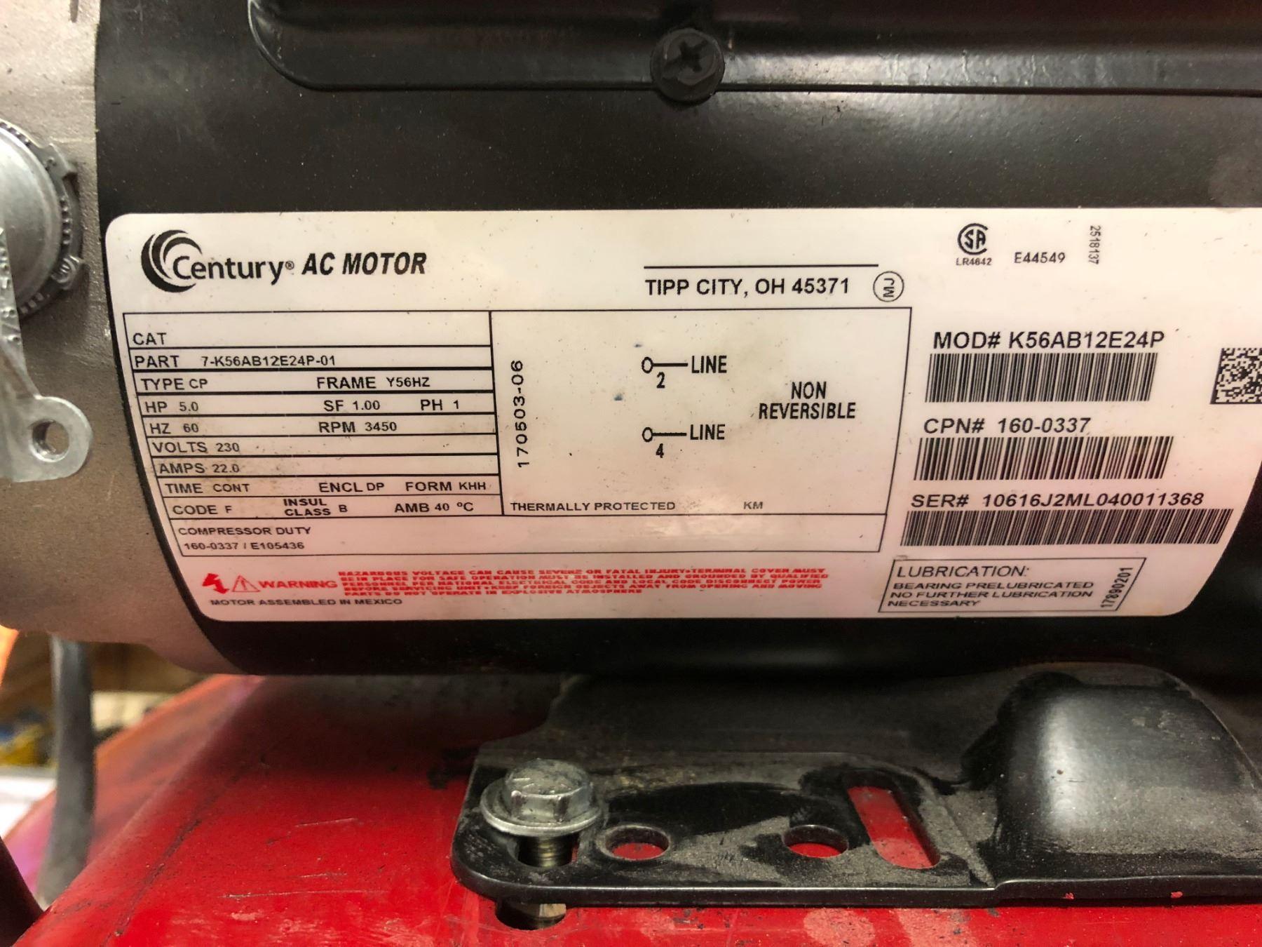 Powermate 80 Gallon 155 Max PSI Air Compressor