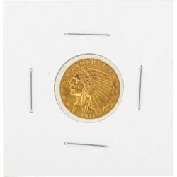 1911 $2 1-2 Indian Head Gold Coin AU