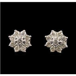 14KT White Gold 1.78 ctw Diamond Earrings