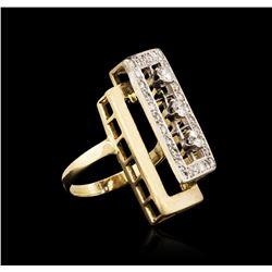 14KT Yellow Gold 1.04 ctw Diamond Ring