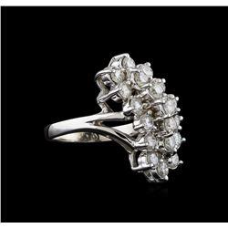1.95 ctw Diamond Ring - 14KT White Gold