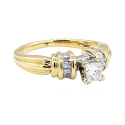 0.52 ctw Diamond Ring - 14KT Yellow Gold