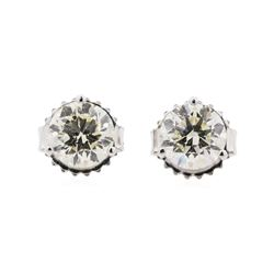 1.43 ctw Diamond Earrings - 14KT White Gold