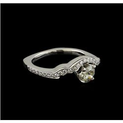 0.70 ctw Diamond Ring - 14KT White Gold