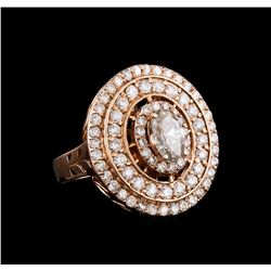 14KT Rose Gold 1.76 ctw Diamond Ring