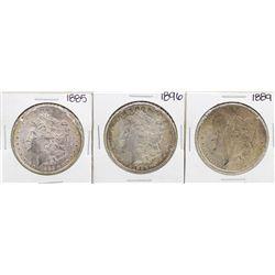 Lot of 1885, 1889, & 1896 $1 Morgan Silver Dollar Coins