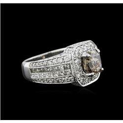 7.89 ctw Fancy Brown Diamond Ring - 14KT White Gold