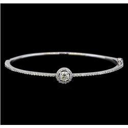 1.14 ctw Diamond Bangle Bracelet - 14KT White Gold