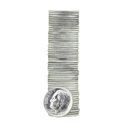 Roll of (50) 1963 Brilliant Uncirculated Roosevelt Dimes