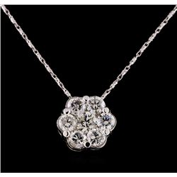 14KT White Gold 2.10 ctw Diamond Pendant With Chain