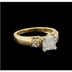 14KT Yellow Gold 0.56 ctw Diamond Ring
