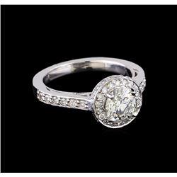 1.63 ctw Diamond Ring - 14KT White Gold