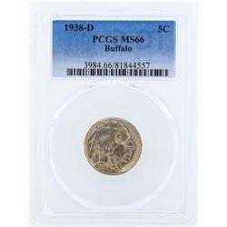 1938-D Buffalo Nickel Coin PCGS MS66
