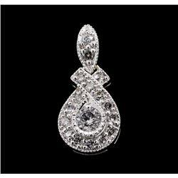 0.25 ctw Diamond Pendant - 14KT White Gold