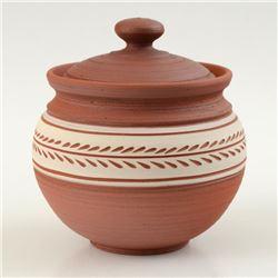 Hand Made Ceramic Jar with Lid by Tamosiunas, Eugenijus