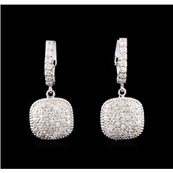 14KT White Gold 1.38 ctw Diamond Earrings