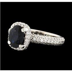 1.40 ctw Sapphire and Diamond Ring - Platinum