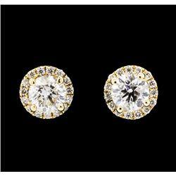1.64 ctw Diamond Earrings - 14KT Yellow Gold