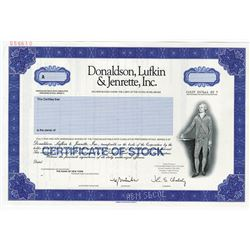 Donaldson, Lufkin & Jenrette, Inc. 1998 Specimen Stock Certificate From Junk Bond Power House.