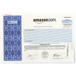 Amazon.com, Inc., 1996 (2001) Specimen Stock Certificate Rarity.