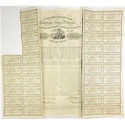 Confederate, 8000 Pounds Cotton Loan, 1863, £200, 7% Cotton Loan.