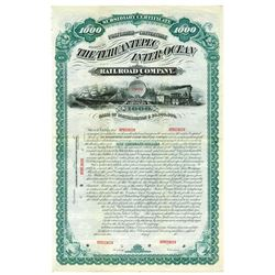 Tehuantepec Inter-Ocean Railroad Co., 1880 Specimen Bond.