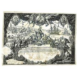 Real Compania de San Fernando de Seville, 1740's, One Share Certificate.