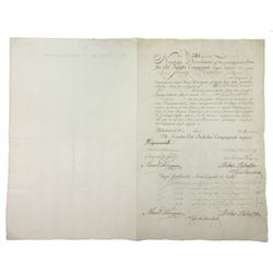 Historic Swedish East-India Company, 1782 Bond for 150 Riksdaler.