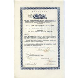 Tasmanian Government Debenture, 1867, Issued Bond.