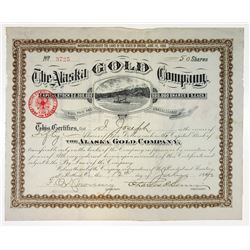 Alaska Gold Co., 1890 Stock Certificate.