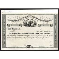 Washington & Fredricksburg Steam Boat. 1840. Proof Shares.