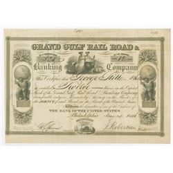 Grand Gulf Rail Road & Banking Co., 1846 Issued Stock Certificate.