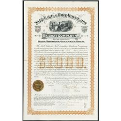 Salt Lake & Fort Douglass Railway Co. 1884 Issued Mormon Related Bond With Brigham Young's Sons Sign