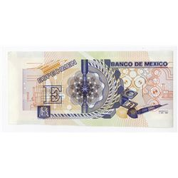 Banco De Mexico, 1989 DuraNote Advertising Polymer Note.