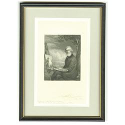 James D. Smille engraved and signed india paper proof of Portrait of A.B. Durand.