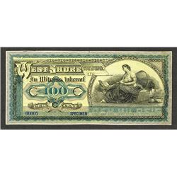 U.S. Advertising Banknote Modeled After Brazil Banknote, ca.1900-20's.