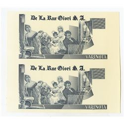 De La Rue Giori S.A., Specimen DuraNote Polymer Advertising note Uncut Pair with Beethoven on right