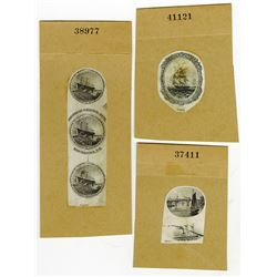 U.S. Early Navigation Vignettes Used on Obsolete Banknotes ca.1830-50's.
