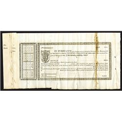 War of 1812 Capital Funded Stock Receipt Remainder, Receipt for Loan of 1813, Hessler X-71.