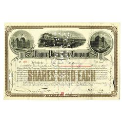 Wagner Palace Car Co., 1890 Stock Certificate Issued to and Signed by J.P. Morgan.