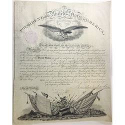 ANDREW JACKSON. 7th U.S. President. Partly Engraved Document Signed ñAndrew Jacksonî as President an