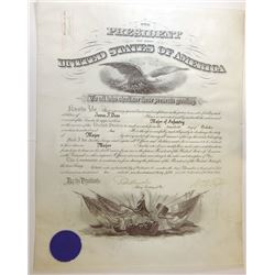 WILLIAM H. TAFT. 27th U.S. President. Partly Engraved Document Signed ñWm H. Taftî as President and