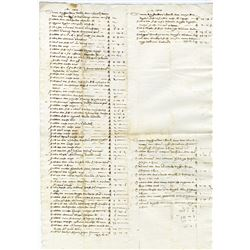 Italy, Italian Bank Statement dated October 14th, 1427.