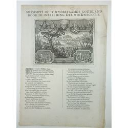 Broadside in Dutch, ca.1720, Satirizing John LawÍs Mississippi Company Land Scheme.